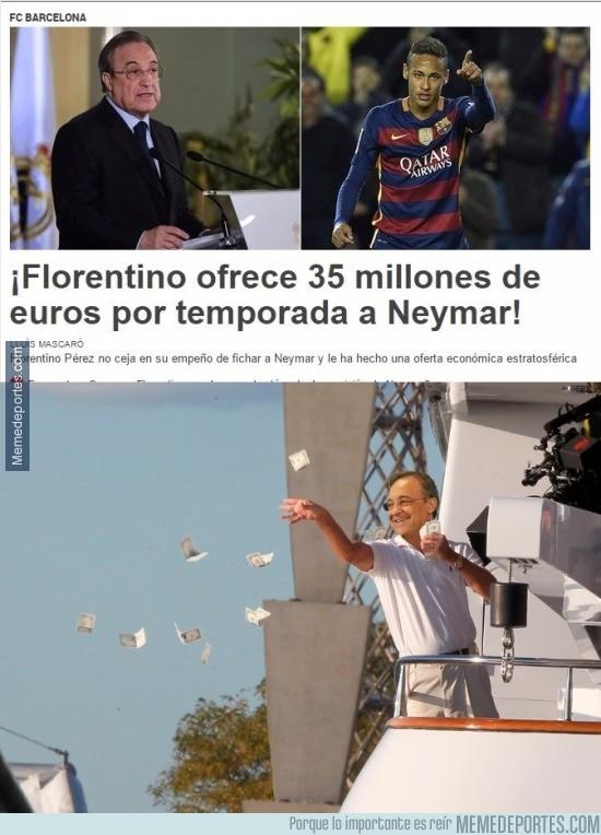 791147 - La brutal cantidad de dinero que le ofrece Florentino Pérez a Neymar