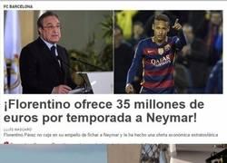 Enlace a La brutal cantidad de dinero que le ofrece Florentino Pérez a Neymar