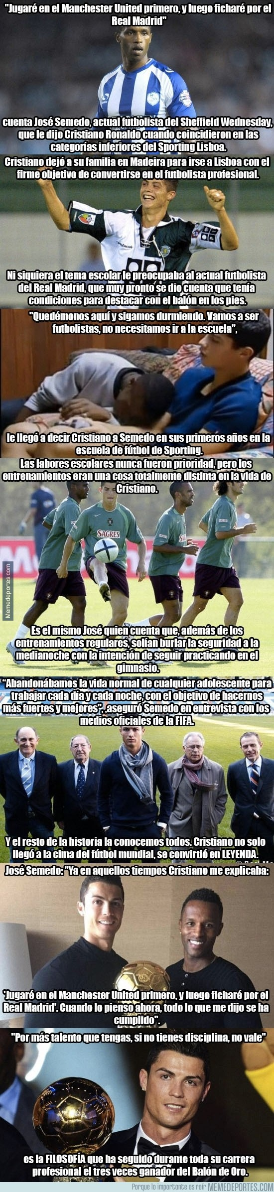 791238 - BRUTAL TESTIMONIO: Cristiano siempre supo que jugaría en el United y el Madrid