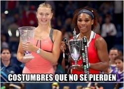 Enlace a Las costumbres de Sharapova y Serena Williams