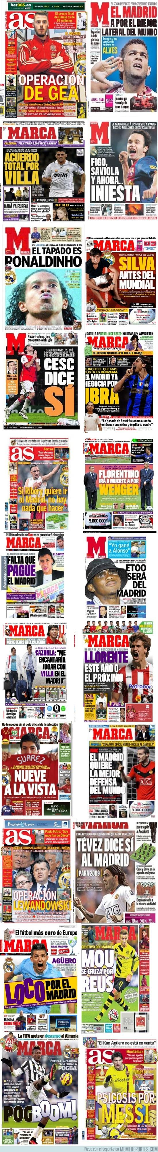 791374 - 20 jugadores que tendría el Madrid según los periódicos