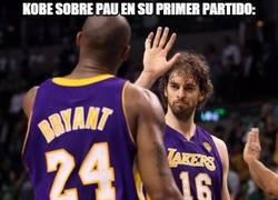 Enlace a Kobe sobre Pau en su primer partido