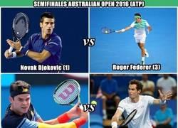 Enlace a Los encuentros de las semifinales del Abierto de Australia. ¿Quién es tu favorito(a)?
