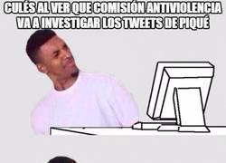 Enlace a Culés al ver que Comisión antiviolencia va a investigar los tweets de Piqué