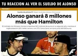 Enlace a Los salarios de la F1 son para flipar. Mira Alonso