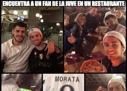 Enlace a Si estás en Turín, busca a Morata, ¡comida gratis!