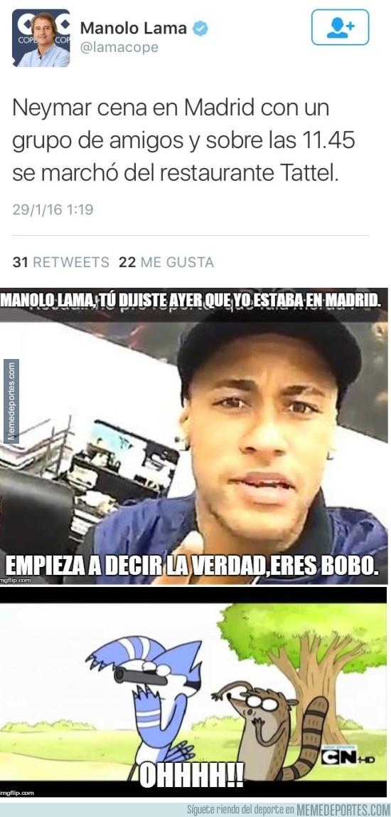 792863 - El mega zasca que le ha pegado Neymar a Manolo Lama