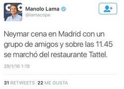 Enlace a El mega zasca que le ha pegado Neymar a Manolo Lama