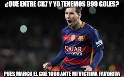 Enlace a Messi marca el 1000 de los dos cracks