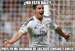 Enlace a James callando bocas contra el Espanyol
