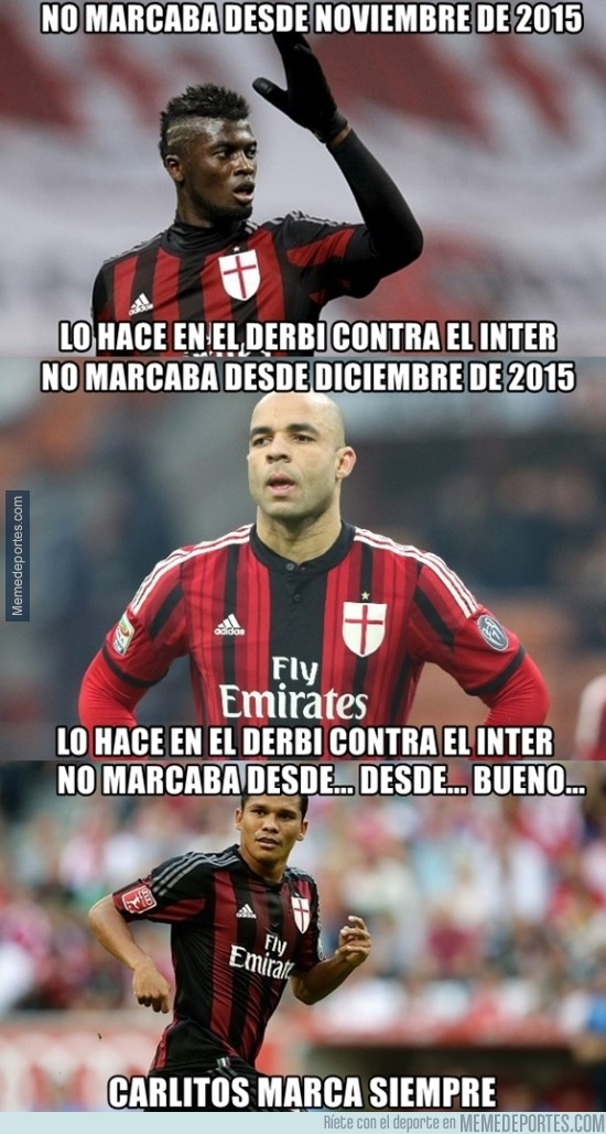 794807 - Los goleadores del Milan contra el Inter