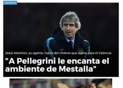 Enlace a ¿Pellegrini al Valencia?