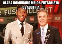 Enlace a Alaba mejor jugador austríaco por tercera vez