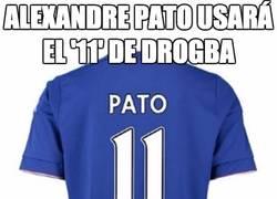 Enlace a Pato usará el '11' de Drogba