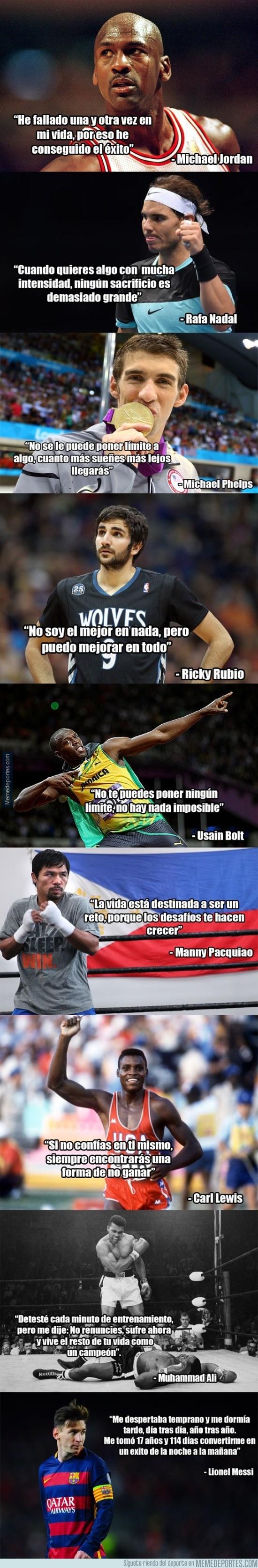 795547 - Frases motivadoras de algunos deportistas famosos