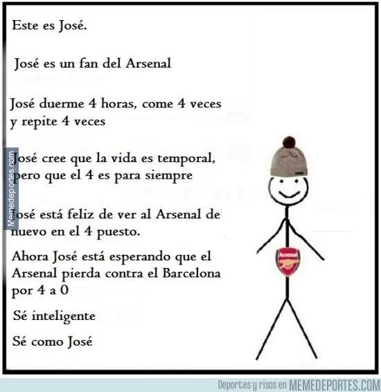 795680 - José es fan del Arsenal