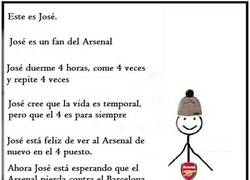 Enlace a José es fan del Arsenal