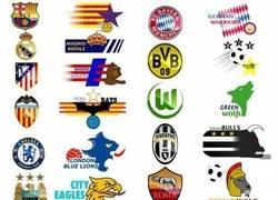 Enlace a Si los equipos de fútbol fueran equipos de fútbol americano