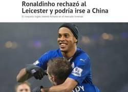 Enlace a ¿Te imaginas a Ronaldinho en el Leicester?