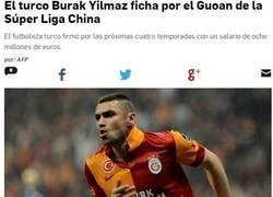 Enlace a Burak Yilmaz, otro qu€ $€ va a£ futbo£ chino