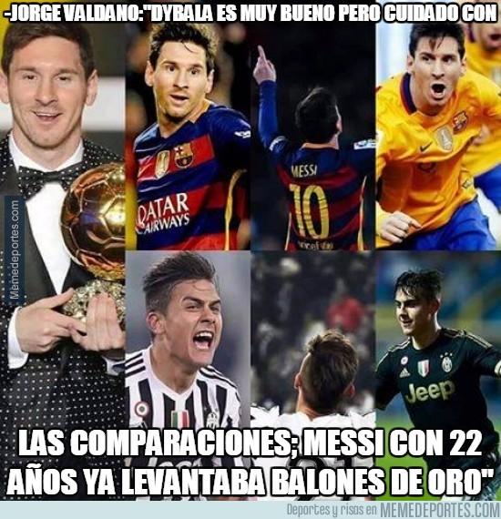 799926 - A Dybala le faltan muchas papillas para llegar a ser la mitad de Messi