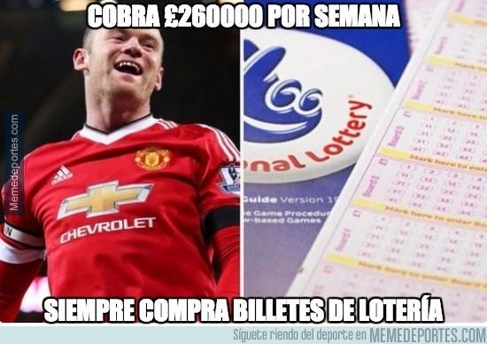 800015 - Pese a cobrar 260.000 libras semanales, Rooney sigue jugando a la Lotería