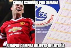Enlace a Pese a cobrar 260.000 libras semanales, Rooney sigue jugando a la Lotería