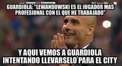 Enlace a Guardiola quiere a Lewandowski