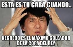 Enlace a Negredo, empatado como máximo goleador de la Copa del Rey
