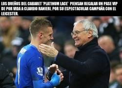 Enlace a Ranieri va a estar doblemente feliz si gana la Premier
