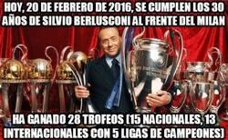 Enlace a Hoy, 20 de febrero de 2016, se cumplen los 30 años de Silvio Berlusconi al frente del Milan