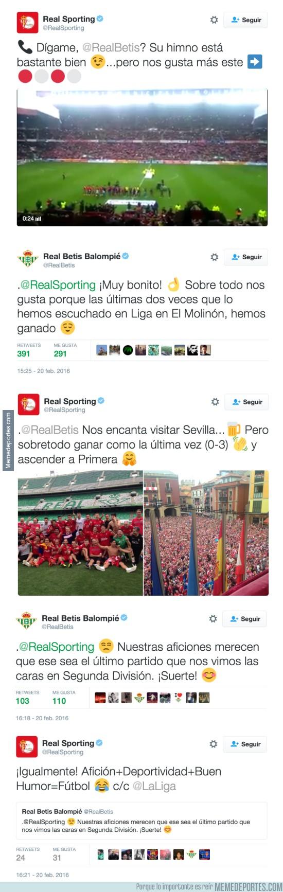 806613 - Mientras tanto, el Sporting y Real Betis en Twitter... así da gusto con buen rollo