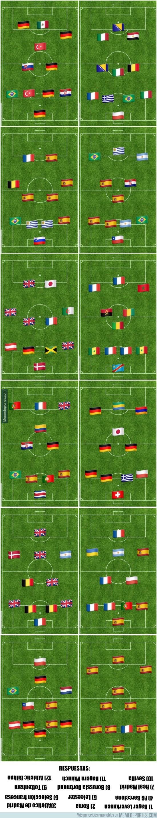 806673 - ¿Sabrías reconocer estos equipos europeos con las banderas de su país? (Nivel fácil)