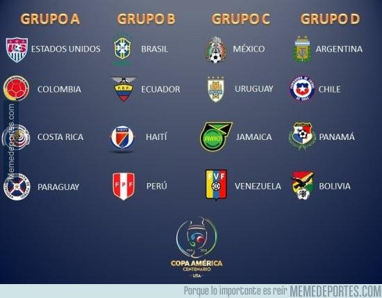 807678 - Así quedan los grupos de la Copa América Centenario. ¿Qué te parece?
