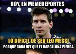 Enlace a Así es de difícil ser Leo Messi