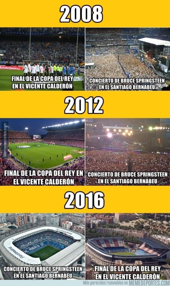 808001 - INCREÍBLE COINCIDENCIA: Cada 4 años, hay final en el Calderon y un concierto en el Bernabéu