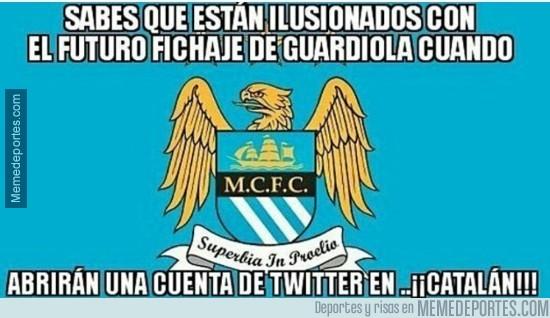 808053 - El Manchester City abrirá una cuenta en catalán como guiño a la llegada de Guardiola