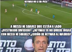 Enlace a Messi podría haber marcado un hattrick. Pedrerol ya tiene programa