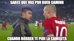 Enlace a Robben pide la camiseta a Dybala
