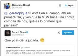 Enlace a Piqué otra vez repartiendo zascas en twitter