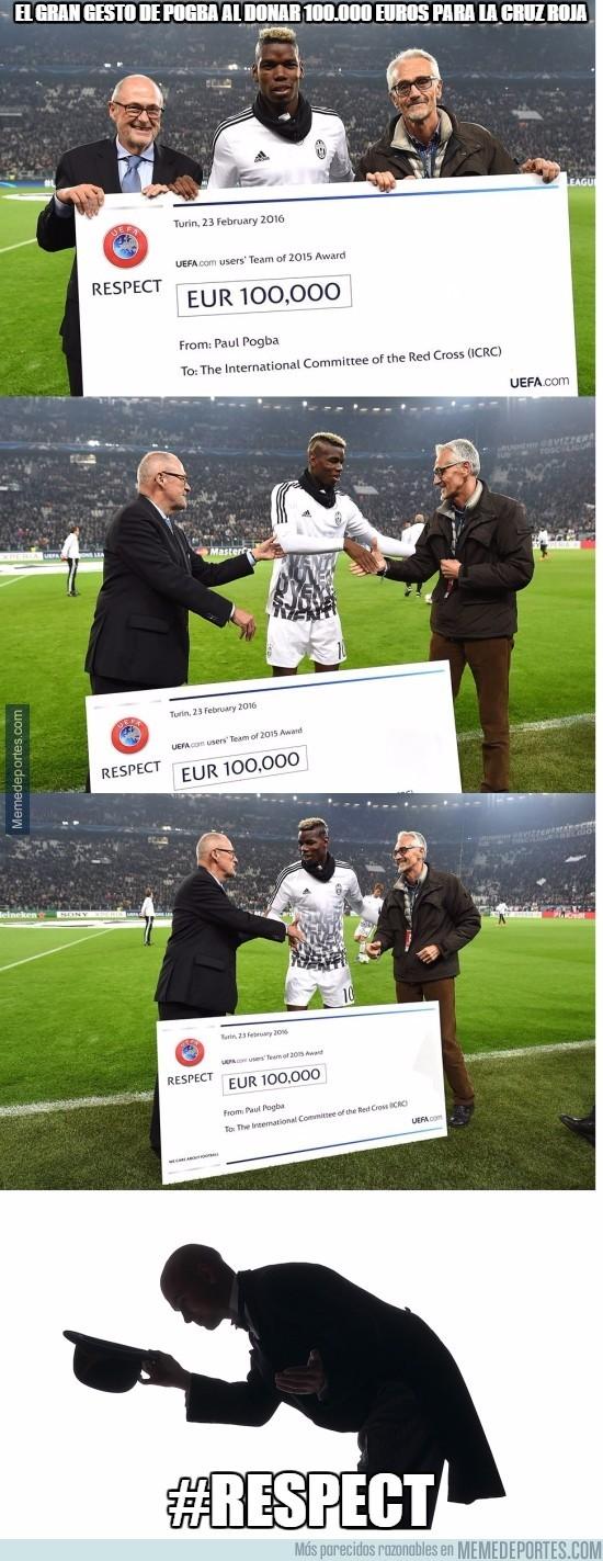 809672 - El gran gesto de Pogba al donar 100.000 euros para la cruz roja