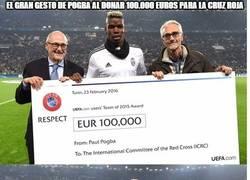 Enlace a El gran gesto de Pogba al donar 100.000 euros para la cruz roja
