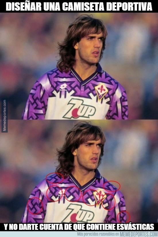 810156 - La curiosidad que nadie ve de esta camiseta de la Fiorentina