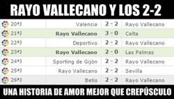 Enlace a Rayo Vallecano y los 2-2