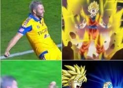 Enlace a Gignac si que sabe celebrar goles... ¡al estilo Dragon Ball!