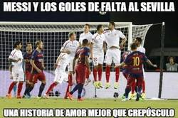 Enlace a Messi y los goles de falta al Sevilla