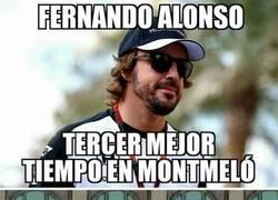 Enlace a ¡Fernando Alonso tercero en Montmeló!