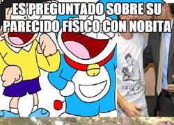 Enlace a Es preguntado sobre su parecido físico con Nobita