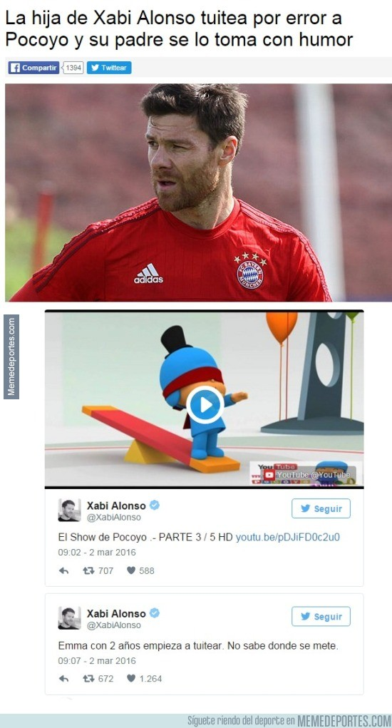 814630 - ¿Xabi Alonso fan de Pocoyo?