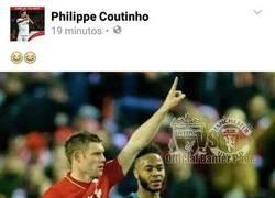 Enlace a Coutinho y su manía de dejar mal a Sterling en redes sociales